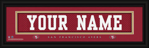 Personalized Wall Art - NFL - Stitched Letters - Team Print - 49ers