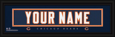 Personalized Wall Art - NFL - Stitched Letters - Team Print - Bears