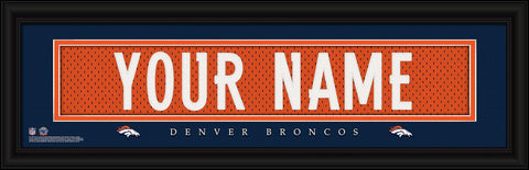 Personalized Wall Art - NFL - Stitched Letters - Team Print - Broncos