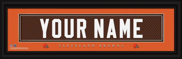 Personalized NFL Stitched Letters Team Print - Browns - JDS