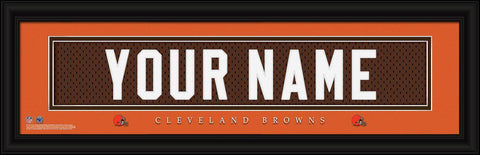 Personalized Wall Art - NFL - Stitched Letters - Team Print - Browns
