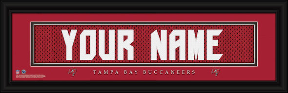 Personalized NFL Stitched Letters Team Print - Buccaneers - JDS