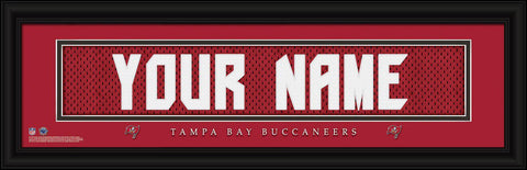Personalized Wall Art - NFL - Stitched Letters - Team Print - Buccaneers