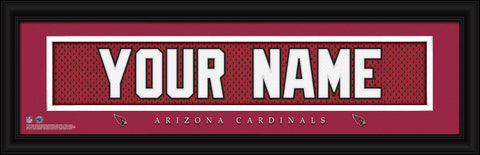 Personalized Wall Art - NFL - Stitched Letters - Team Print - Cardinals