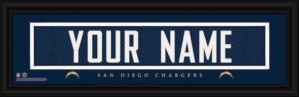 Personalized NFL Stitched Letters Team Print - Chargers - JDS