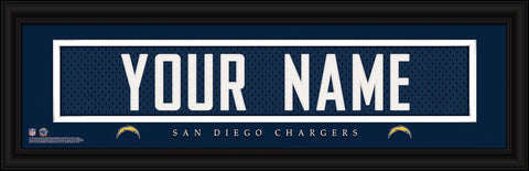 Personalized Wall Art - NFL - Stitched Letters - Team Print - Chargers
