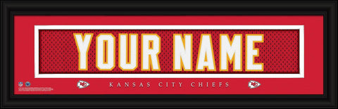 Personalized Wall Art - NFL - Stitched Letters - Team Print - Chiefs