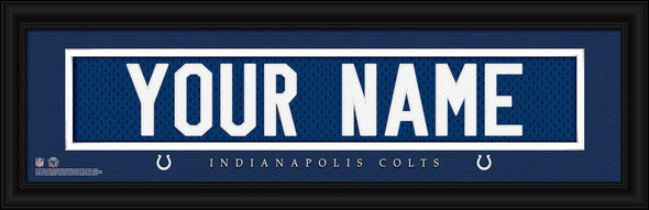 Personalized NFL Stitched Letters Team Print - Colts - JDS