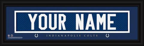 Personalized Wall Art - NFL - Stitched Letters - Team Print - Colts