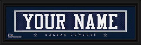 Personalized Wall Art - NFL - Stitched Letters - Team Print - Cowboys