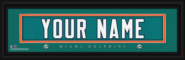 Personalized NFL Stitched Letters Team Print - Dolphins - JDS