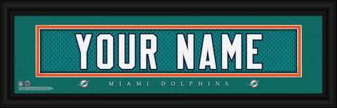 Personalized Wall Art - NFL - Stitched Letters - Team Print - Dolphins