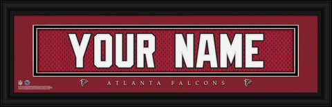Personalized Wall Art - NFL - Stitched Letters - Team Print - Falcons