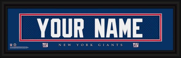 Personalized NFL Stitched Letters Team Print - Giants - JDS