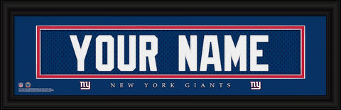 Personalized Wall Art - NFL - Stitched Letters - Team Print - Giants