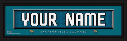 Personalized Wall Art - NFL - Stitched Letters - Team Print - Jaguars