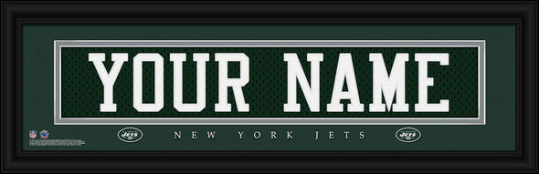 Personalized NFL Stitched Letters Team Print - Jets - JDS