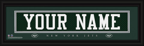 Personalized Wall Art - NFL - Stitched Letters - Team Print - Jets