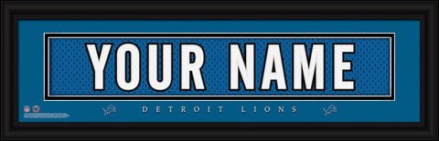 Personalized Wall Art - NFL - Stitched Letters - Team Print - Lions