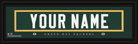 Personalized Wall Art - NFL - Stitched Letters - Team Print - Packers