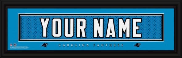 Personalized NFL Stitched Letters Team Print - Panthers - JDS
