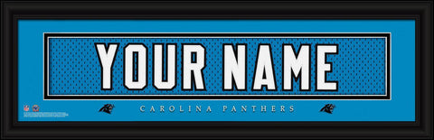 Personalized Wall Art - NFL - Stitched Letters - Team Print - Panthers
