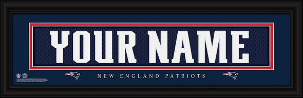 Personalized NFL Stitched Letters Team Print - Patriots - JDS