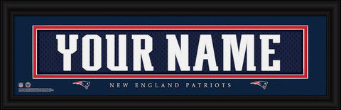 Personalized Wall Art - NFL - Stitched Letters - Team Print - Patriots