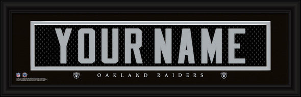 Personalized NFL Stitched Letters Team Print - Raiders - JDS