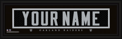 Personalized Wall Art - NFL - Stitched Letters - Team Print - Raiders