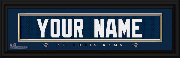 Personalized NFL Stitched Letters Team Print - Rams - JDS