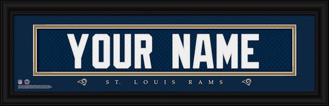 Personalized Wall Art - NFL - Stitched Letters - Team Print - Rams