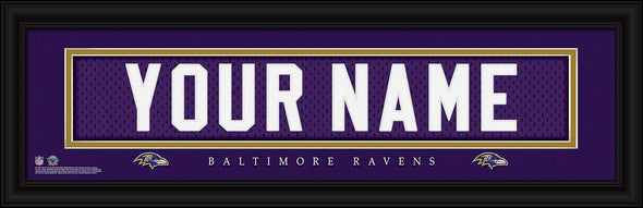 Personalized NFL Stitched Letters Team Print - Ravens - JDS