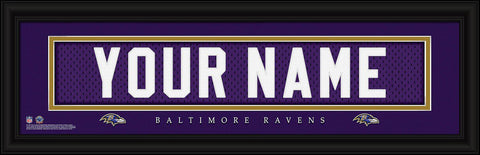 Personalized Wall Art - NFL - Stitched Letters - Team Print - Ravens