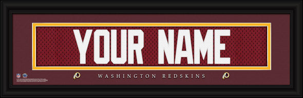 Personalized NFL Stitched Letters Team Print - Washington - JDS