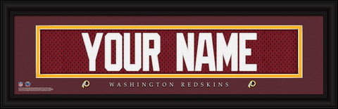 Personalized Wall Art - NFL - Stitched Letters - Team Print - Washington
