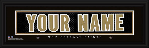 Personalized NFL Stitched Letters Team Print - Saints - JDS