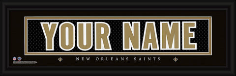 Personalized Wall Art - NFL - Stitched Letters - Team Print - Saints