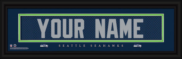 Personalized NFL Stitched Letters Team Print - Seahawks - JDS