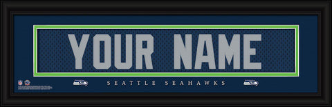 Personalized Wall Art - NFL - Stitched Letters - Team Print - Seahawks