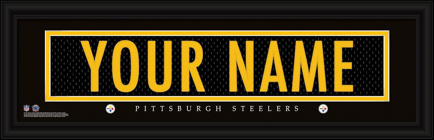 Personalized Wall Art - NFL - Stitched Letters - Team Print