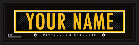 Personalized Wall Art - NFL - Stitched Letters - Team Print - Steelers