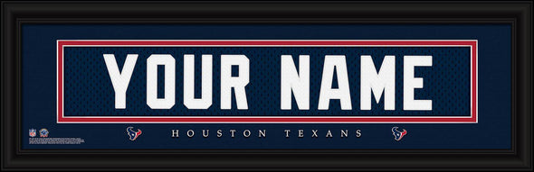 Personalized NFL Stitched Letters Team Print - Texans - JDS