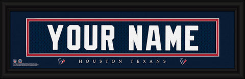 Personalized Wall Art - NFL - Stitched Letters - Team Print - Texans