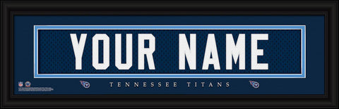 Personalized Wall Art - NFL - Stitched Letters - Team Print - Titans