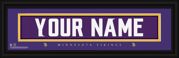 Personalized NFL Stitched Letters Team Print - Vikings - JDS