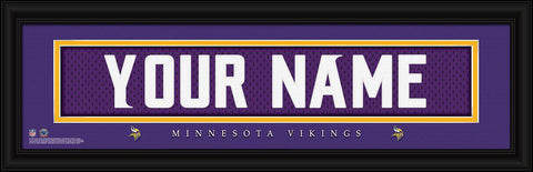 Personalized Wall Art - NFL - Stitched Letters - Team Print - Vikings