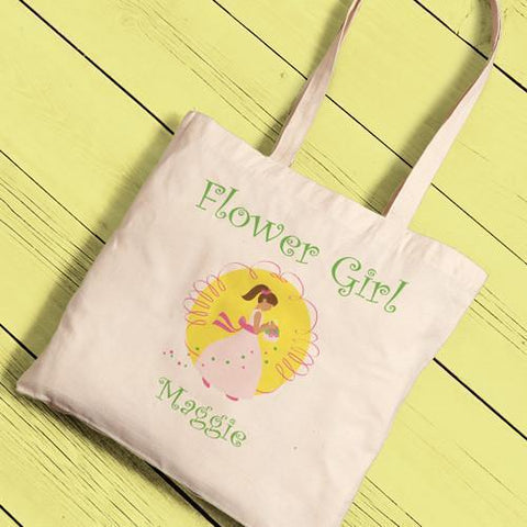 Personalized Canvas Tote - Flower Girl