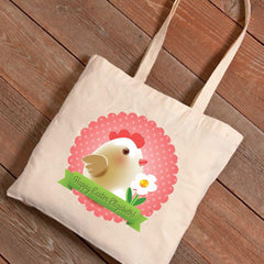 Personalized Easter Canvas Bag - Frilly Chick -  - Tote Bags - AGiftPersonalized