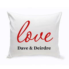 Personalized Couples Unity Throw Pillow - Amore